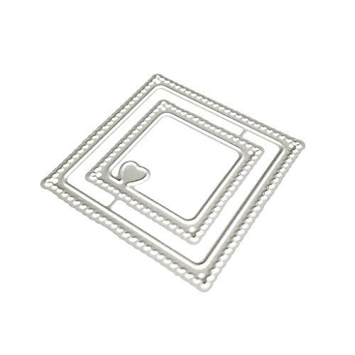 Queenhairs Cornice per Cuore Taglio di Metallo Muore Stencil Scrapbooking Fai da Te Album di francobolli Carta di Carta Goffratura Decorazioni Artigianali - 1
