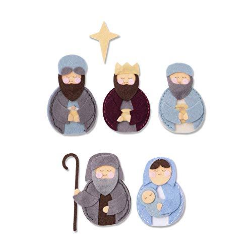 Sizzix Fustella Spessa in Acciaio Bigz L Natività con Maria, Giuseppe, Gesù e Re Magi, Multicolore, taglia unica - 1