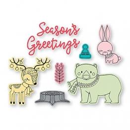 Sizzix Set di Fustelle Framelits 8 pz Natale in Stile Country by Jordan Caderao, Multicolore, taglia unica - 1