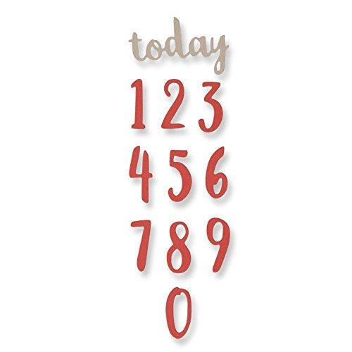Sizzix Thinlits Fustella, Numeri di Pennello - 1