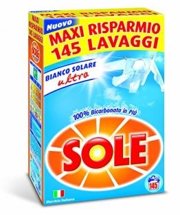 Sole Bianco Solare Detersivo Lavatrice Polvere, 145 Lavaggi - 1