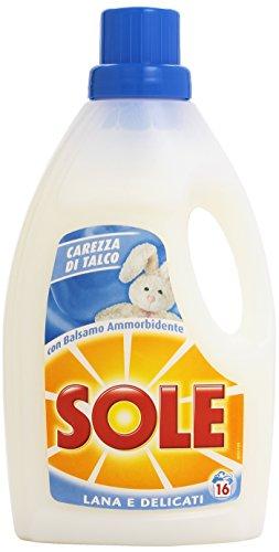 Sole Lana e Delicati Detersivo Lavatrice Liquido, Carezza di Talco, 16 Lavaggi - 1