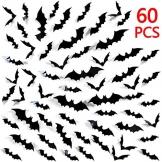 UMIPUBO Adesivi Halloween,Pipistrelli Adesivi 3D Della Parete di Halloween, Pipistrelli Halloween Decorazioni Finestra Adesivi (Halloween) - 1