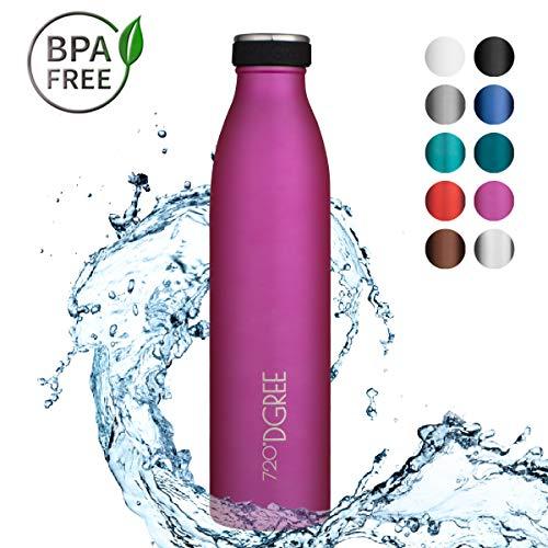 "720°DGREE Borraccia Acqua Termica ""milkyBottle"" - 750 ml, Fucsia, Pink | Bottiglia Acciaio Inox Isolamento a Vuoto | Senza BPA - 1"