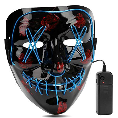 AIWOGEP Halloween la Maschere, LED Illumina la Maschere,per Halloween Cosplay Feste del Partito Halloween Costumi - 1