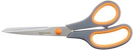AmazonBasics - Forbici con impugnatura morbida e lame in titanio, 20 cm, confezione singola - 1