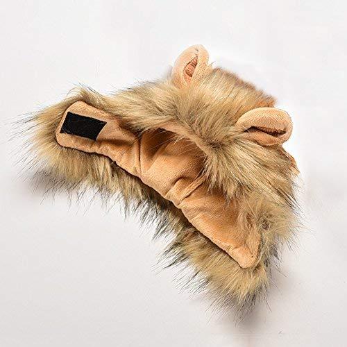 Bello Luna Parrucca di leone di animale pet Cosplay Costume Halloween Party Animale Autunno Inverno Vestire Costume - 1