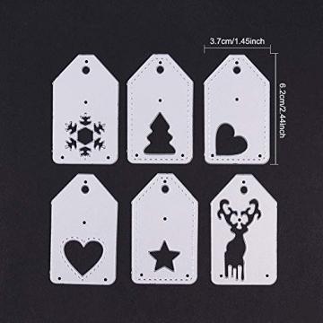 BENECREAT 6 PCS Taglio Muore Tema di Natale Stampo in Acciaio al Carbonio per Scrapbooking Album Mestieri di Carta DIY - 4