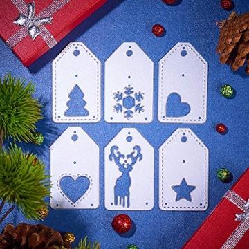 BENECREAT 6 PCS Taglio Muore Tema di Natale Stampo in Acciaio al Carbonio per Scrapbooking Album Mestieri di Carta DIY - 5