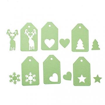 BENECREAT 6 PCS Taglio Muore Tema di Natale Stampo in Acciaio al Carbonio per Scrapbooking Album Mestieri di Carta DIY - 6