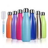 BOGI 500ml doppia parete in acciaio inox coibentato bottiglia di acqua, mantiene il vostro Bevanda calda & fredda Perfetto per campeggio di sport esterni escursionismo escursioni in bicicletta(pink) - 1