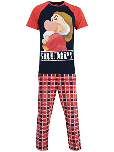 Disney Brontolo- Pigiama per Uomo - Grumpy - Large - 1