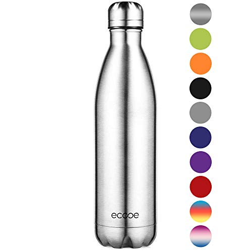 Ecooe Thermos 750 ml bottiglia d'acqua in acciaio inox vuoto isolamento bottiglia per bottiglia d'acqua fredda e bevande calde - 1