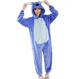 Ferrand Kigurumi Pigiama Unisex Adulto Cosplay Costume Animale Pigiama Blu Stitch S - 1