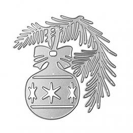 FNKDOR Fustelle per Scrapbooking, Fustella Fustellatrice Stencil Metallo Cutting Dies DIY Stampo Carta Album Stampi, Accessori per Big Shot e Altre Macchina (D) - 1