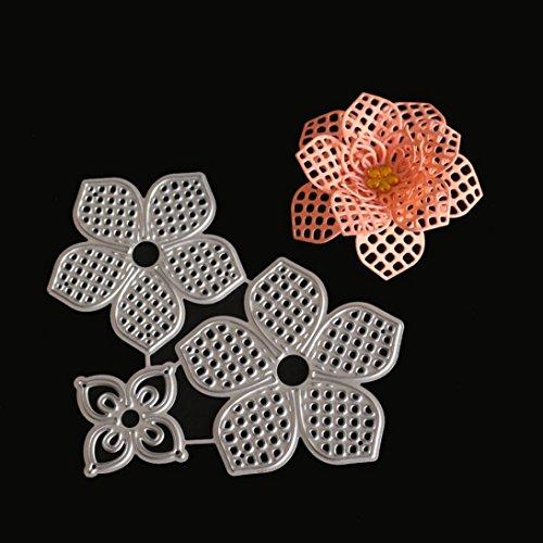 FNKDOR Fustelle per Scrapbooking Metallo Fustella Stencil Carta Cutting Dies DIY Album Foto, Accessori per Big Shot e altre macchina (H) - 1
