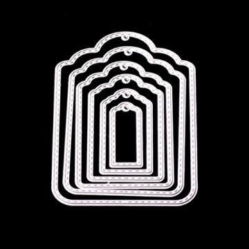FNKDOR Metallo Fustelle per Scrapbooking Fustella Stencil Taglio del Mestiere Stampo Foto DIY Album Goffratura Stampi Segnalibro, Accessori per Big Shot e altre Fustellatrice macchina (F) - 3