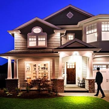 Gosun 10W Faro LED con sensore di movimento, DC12-24V, 950LM Luce Bianco Diurna 6000K Lampada esterni, luci di sicurezza con PIR, impermeabile IP65 per casa, giardino, garage, moderno floodlight - 5
