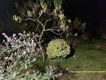 Gosun 10W Faro LED con sensore di movimento, DC12-24V, 950LM Luce Bianco Diurna 6000K Lampada esterni, luci di sicurezza con PIR, impermeabile IP65 per casa, giardino, garage, moderno floodlight - 7
