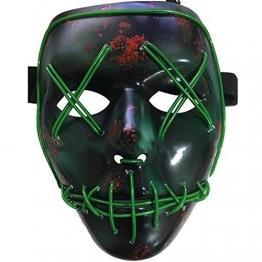 Halloween la maschere,LED Illumina la maschere,Per Halloween Cosplay feste del partito Halloween Costumi,Batteria alimentata(non inclusa) - 1