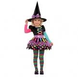 Joker 996995 Costume strega Halloween, Nero, taglia 4-6 anni - 1