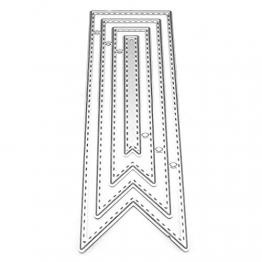 Koehope - Fustelle a Forma di Nastro, in Metallo, per Carte, Scrapbooking, Matrimonio, Acciaio al Carbonio - 1