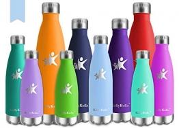 KollyKolla Bottiglia Acqua in Acciaio Inox, 750ml Senza BPA Borraccia Termica, Isolamento Sottovuoto a Doppia Parete, Borracce per Bambini, Scuola, Sport, All'aperto, Palestra, Yoga, Macaron Blu - 1