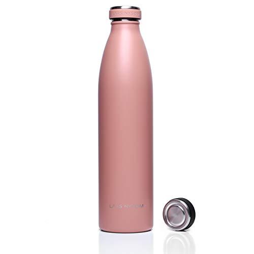 LARS NYSØM Elements Bottiglia in Acciaio Inox da 1 litro con Tappo di Ricambio | Borraccia Termica Senza BPA - 1