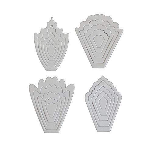 Lazzboy Fustelle Natale Scrapbooking Metallo Stencil Paper Card Craft per Sizzix Big Shot/Altre Macchine(G, Fiore-3) - 1