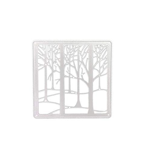 Lazzboy Fustelle Natale Scrapbooking Metallo Stencil Paper Card Craft per Sizzix Big Shot/Altre Macchine(F:Foresta) - 1