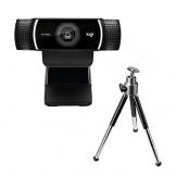 Logitech C922 Pro Stream Webcam, Streaming Full HD 1080p con Treppiede e Licenza XSplit Gratuita di 3 Mesi, Nero - 1
