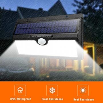 Luce Solare Led Esterno, Feob【2500 mAh】138 LED Lampada Solare con Sensore di Movimento Luci Solari da Parete Impermeabile IP65 Luci di sicurezza Solare LED con 3 Modalità-[2 Pezzi] - 3