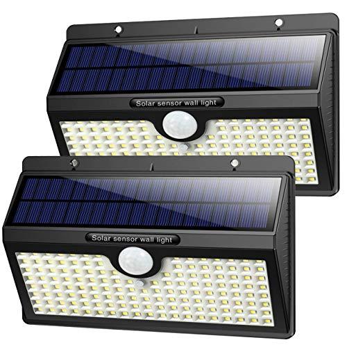 Luce Solare Led Esterno,【2019 Super Luminosa 138LED-1400 lumen】iPosible Luci Solari Esterno Lampade Solari con Sensore di Movimento Luci Esterno Energia Solare Impermeabile IP65 per Esterno-2 Pezzi - 1