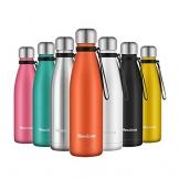 Newdora Bottiglia Acqua in Acciaio Inox 500ml, Tazze da Viaggio, Borraccia Termica Isolamento Sottovuoto a Doppia Parete, per Campeggio di Sport Esterni Escursionismo Escursioni in Bicicletta - 1