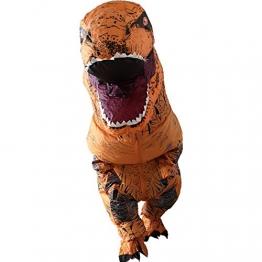 Ohlees T-Rex Costume dinosauro gonfiabile Costume Costumi di Halloween per Adulti TRex festa Costumi alto 220cm/7.2ft ... - 1