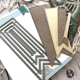 P12cheng Fustelle,Metallo Stencil,Cutting Dies,DIY Stencil di Carta Scrapbooking in Metallo Biglietto di Auguri (07) - 1