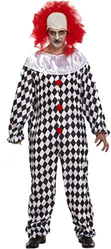 Pagliaccio Spaventoso con Parrucca costume Halloween - 1