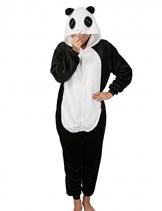 Pigiama Cosplay Party Costume di Carnevale Halloween Pigiama Onepiece Intero Animali Unicorno Regalo di Compleanno Taglia S,M,L,XL (M(155-168cm), Panda) - 1