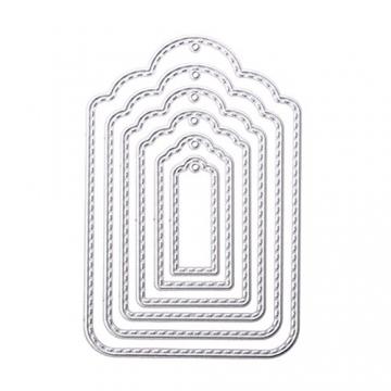 rokoo Appendi etichetta in metallo taglio Stencil stencil per Scrapbooking Goffratura Album fotografico bricolage scheda di carta di artigianato - 2