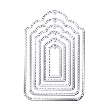 rokoo Appendi etichetta in metallo taglio Stencil stencil per Scrapbooking Goffratura Album fotografico bricolage scheda di carta di artigianato - 1
