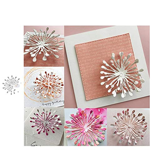 Ruby569y - Fustelle in metallo, a forma di fiore, per fai da te, scrapbooking, biglietti, album decorativi, stencil – argento per fai da te, biglietti di auguri - 1