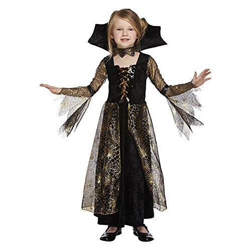 Salveo Girls Spiderella vampiro ragno costume da strega di Halloween vestito per 4 - 12 anni (7-9 anni) - 1