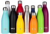 SHO Bottle - Bottiglia Acqua - Bottiglia in Acciaio Inossidabile per Acqua con Isolamento Sottovuoto Doppia Parete - 24 Ore Freddo & 12 Caldo - Senza BPA (Stainless Steel 2.0 - Powder Coated, 500ml) - 1