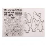 siwetg - Timbro con Timbro a Forma di Babbo Natale, Set di Stencil Fai da Te per Scrapbooking e Album Fotografico, Carta Decorativa, Artigianato - 1