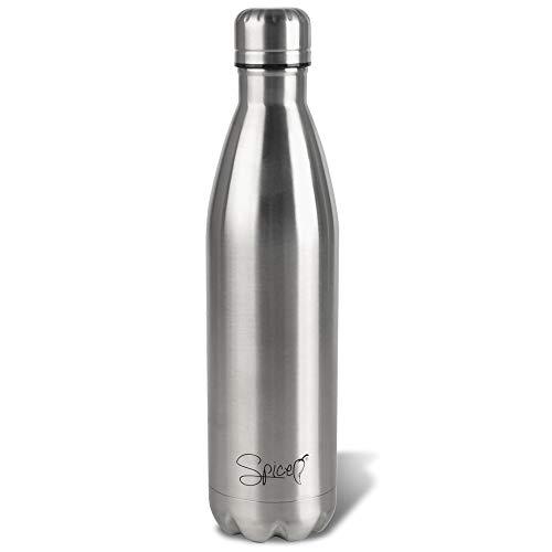 SPICE Bottiglia Borraccia Termica in Acciaio Inox Isolamento sottovuoto con Doppia Parete-Acqua e Drink 750 ml BPA Free per Adulti Bambini Studenti - 1