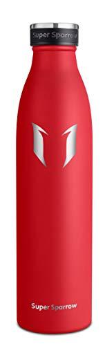 Super Sparrow Borraccia Termica - 350ml/500ml/750ml - Bottiglia Acciaio Inox Isolamento - Senza BPA - Borracce per Bambini, Scuola, Sport, All'aperto, Palestra, Yoga (Magma, 750ml-25oz) - 1
