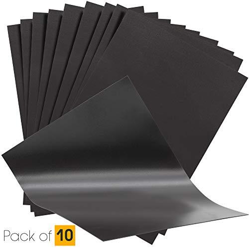 The Magnet Shop Carta Magnetica - Fogli Magnetici A4 - 0.4mm Fogli Flessibili per Arti e Mestieri, Stoccaggio di stampi su metallo - Pacco da 10 - 1