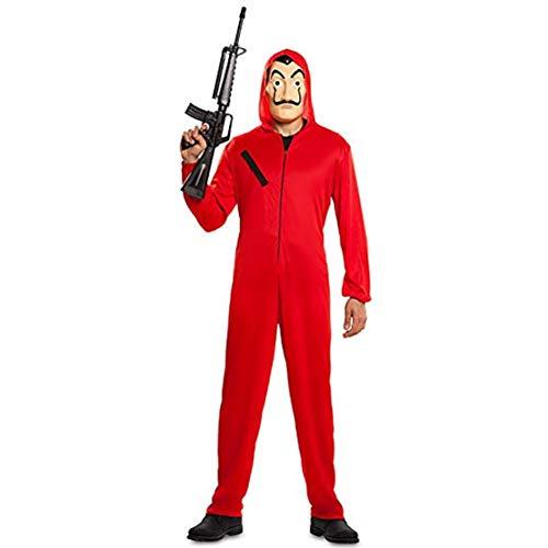 Tuta Cosplay,Casa di Carta Costumi Tuta da Adulto per Bambini Tuta Rossa Tuta di Halloween +Maschera - 1