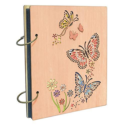 Umi. Essentials album fotografico, design farfalle, con tasche 10 x 15, capacità 120 foto - 1