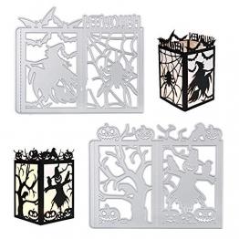 VINFUTUR Fustelle Stencil Cutting Dies Halloween per Merletto di Busta Cartolina d'Auguri Inviti Fai da Te Scrapbooking Goffratura Carta - 1